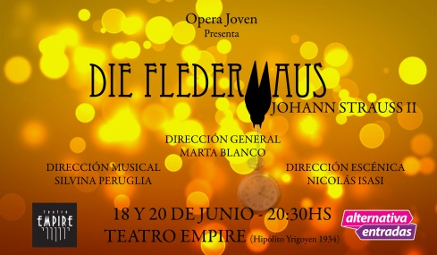 DIE FLEDERMAUS AFICHE TEATRO EMPIRE
